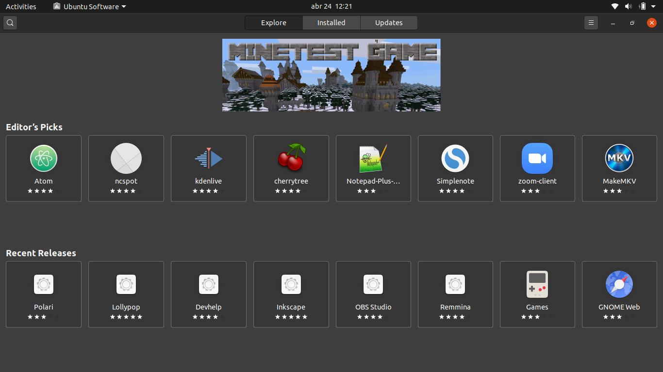 6.- Ubuntu store