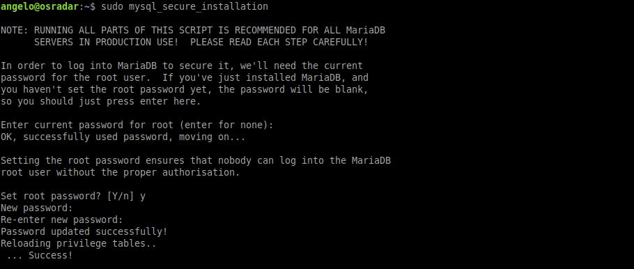 8.- With MariaDB LEMP on Ubuntu 20.04 is complete