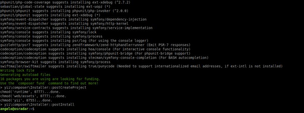 1.- Install Yii PHP framework on Ubuntu 20.04