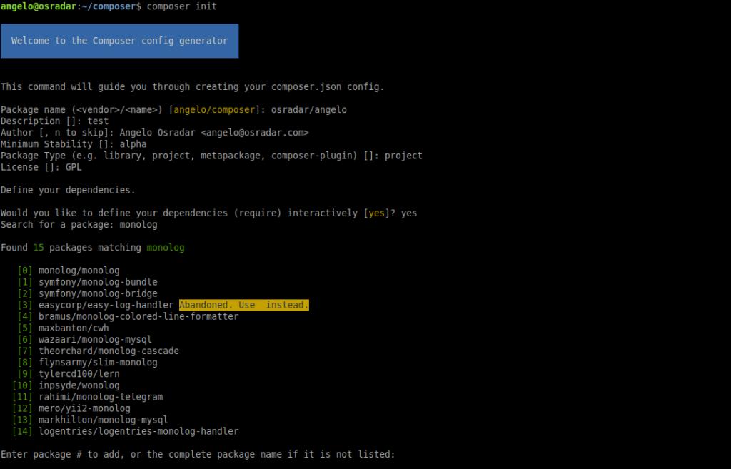 1.- Using Composer on Ubuntu 20.04