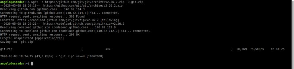 2.- Downloading Git source code