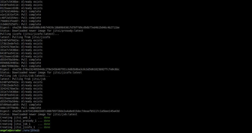 2.- Deploy a Jitsi server with Docker
