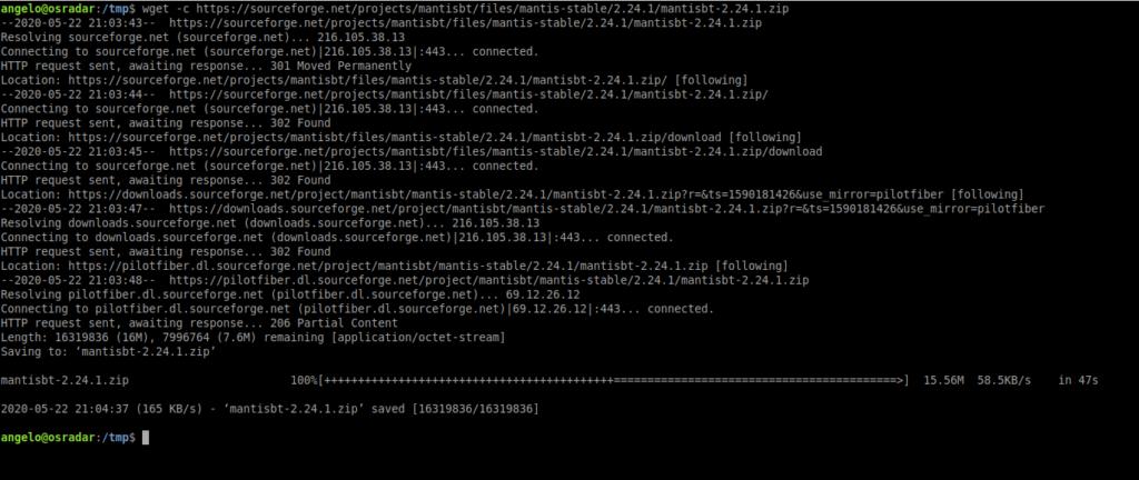 2.- Download Mantis Bug Tracker on Ubuntu 20.04