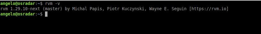 2.- RVM installed