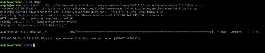 3.- Downloading Apache Maven on Ubuntu 20.04
