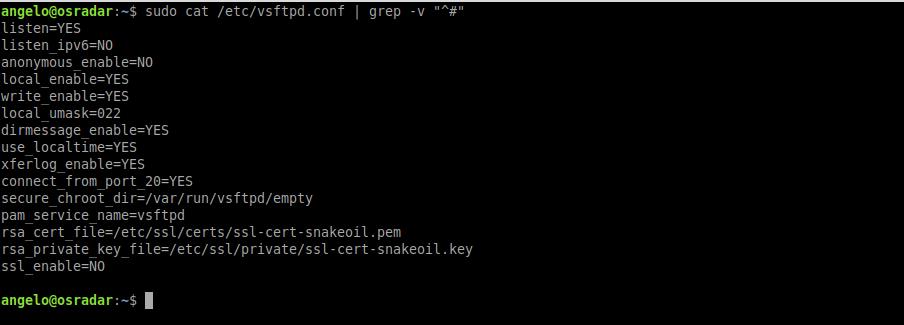 3.- Configuring the FTP server on Ubuntu 20.04