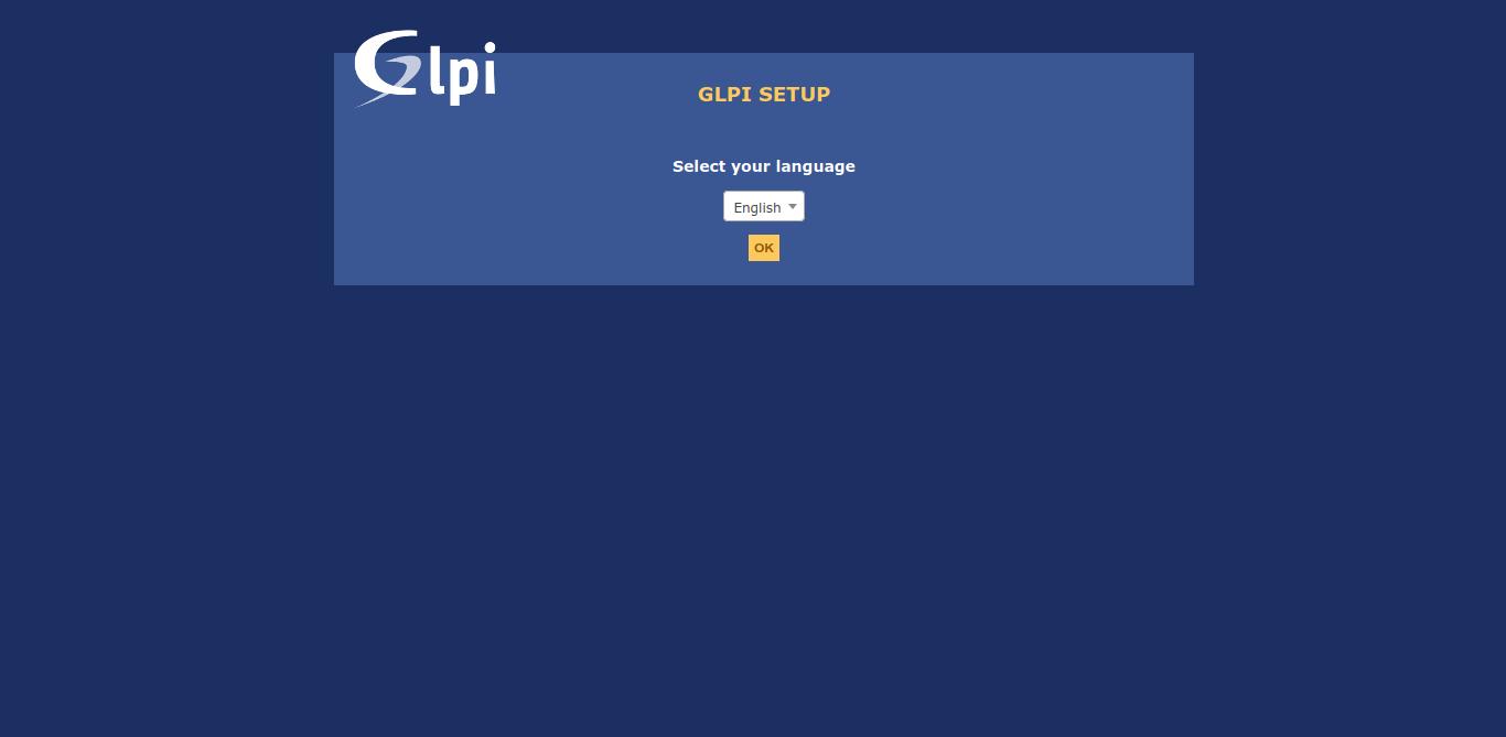 3.- GLPI language setup
