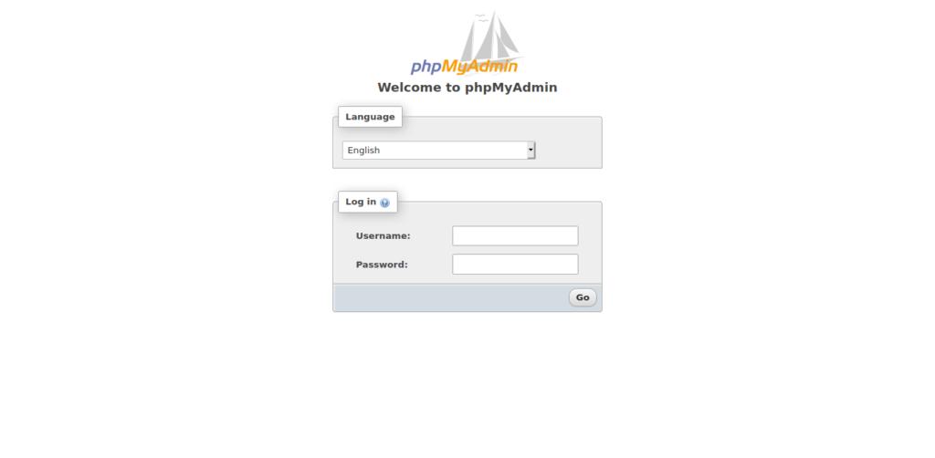 3.- PHPMyAdmin login page on Ubuntu 20.04