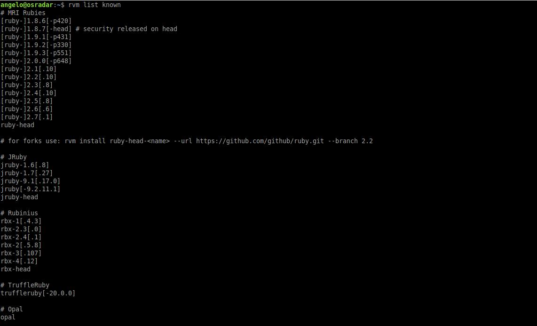 3- Using RVM on Ubuntu / Debian