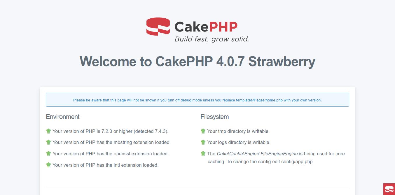 3.- CakePHP on Ubuntu 20.04