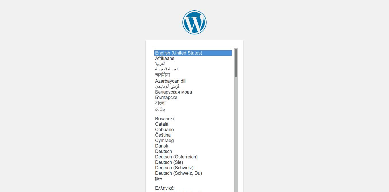 4.- WordPress initial screen