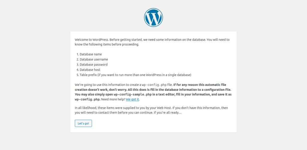 4.- WordPress installation