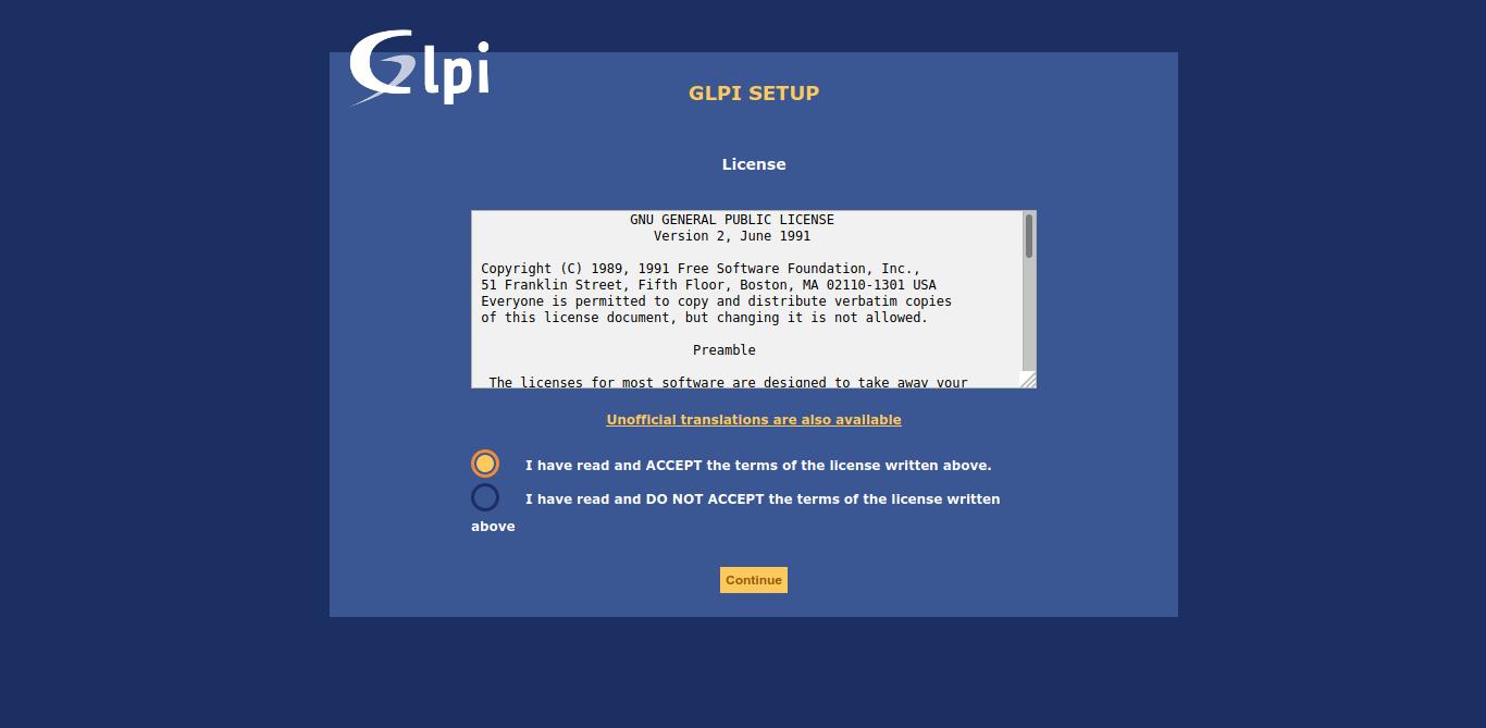 4.-GLPI License terms