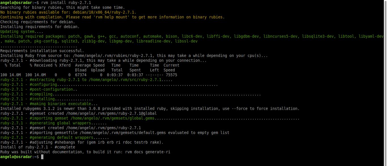 4.- Install Ruby on Ubuntu 20.04 / Debian 10