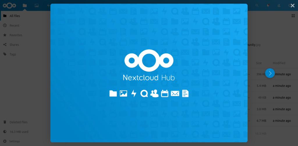 6.- Nextcloud installed