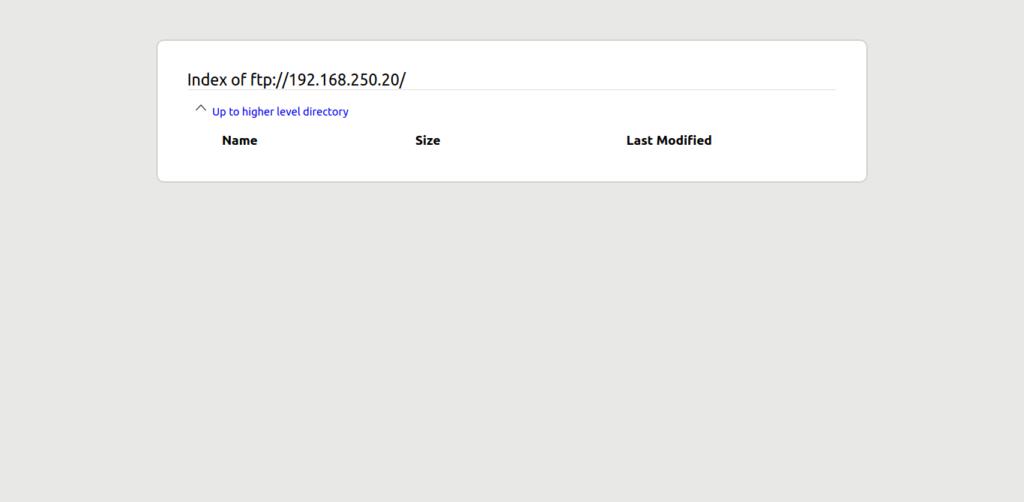 6.- FTP server on Ubuntu 20.04