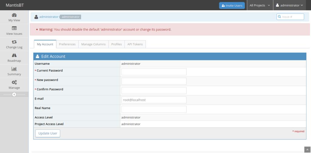 7.- Mantis Bug Tracker on Ubuntu 20.04