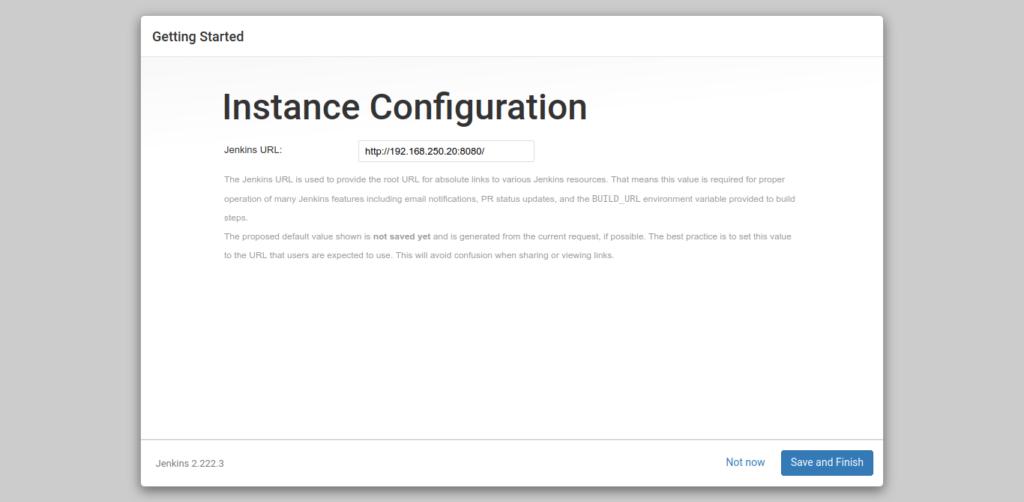 9.- Instance configuration