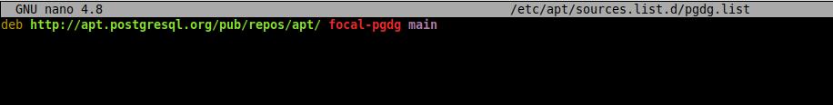 1.- Adding the pgAdmin repository