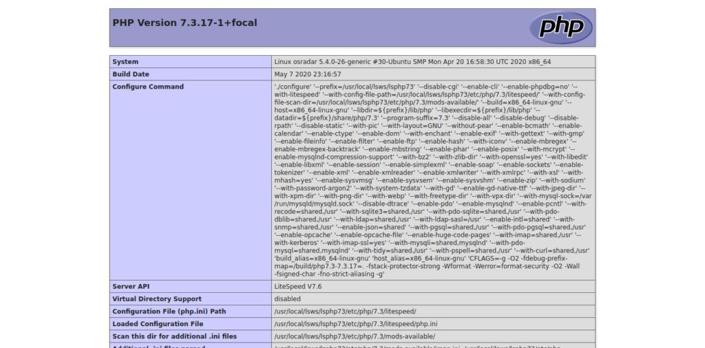 12.- PHP with OpenLiteSpeed on Ubuntu 20.04 / Debian 10
