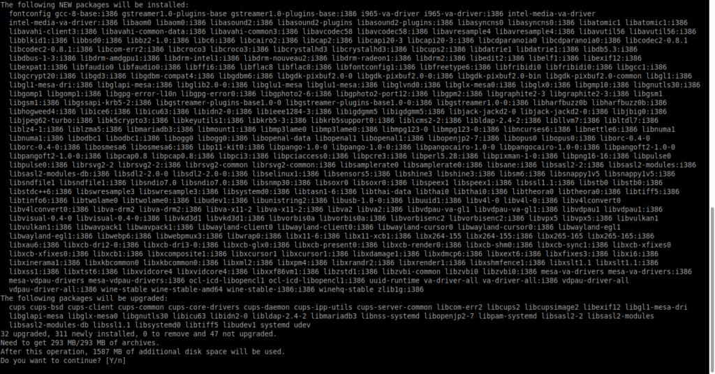 2.- Installing Wine 5 on Debian 10