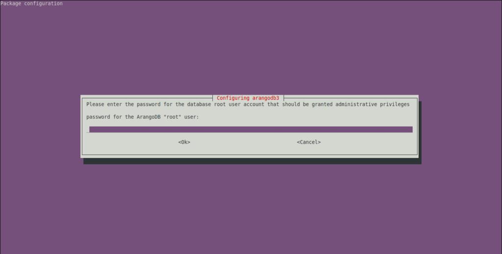 3.- Set a root password for ArangoDB