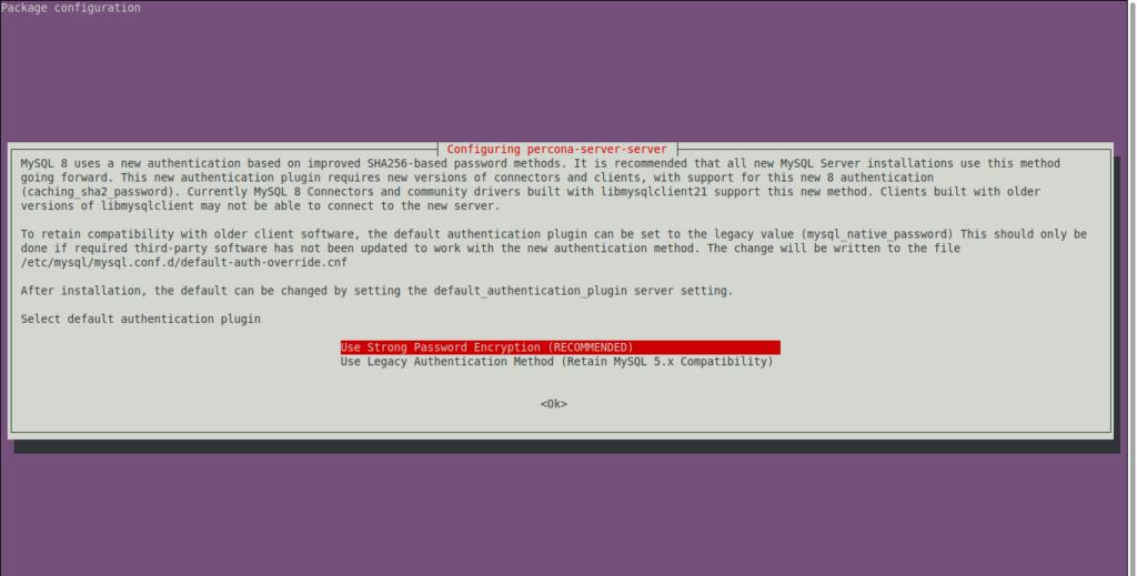 5.- Configuring Percona on Ubuntu 20.04