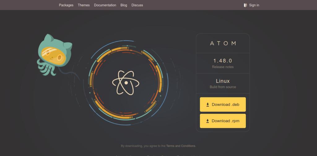 1.- Atom web site