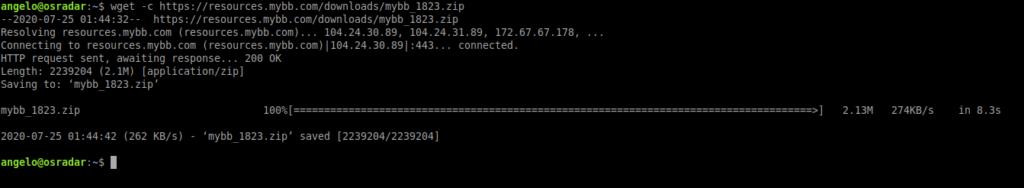 2.- Download MyBB on Ubuntu 20.04
