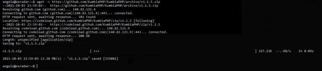 Download and install KumbiaPHP on Debian 11 / Ubuntu 20.04