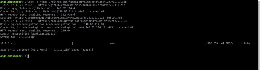 2.- Download and install KumbiaPHP on Ubuntu 20.04