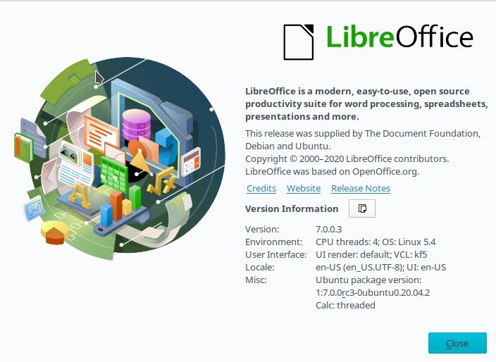 1.- LibreOffice 7 on Ubuntu 20.04