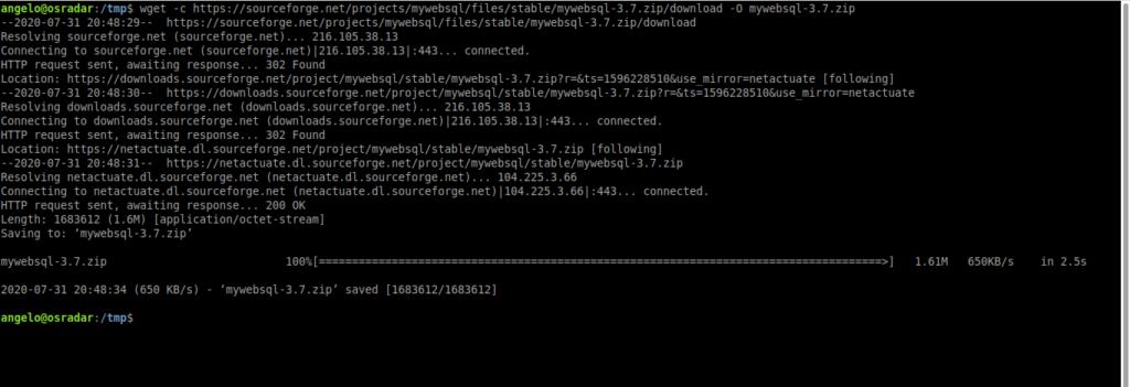1.- Downlad MyWebSQL on Ubuntu 20.04