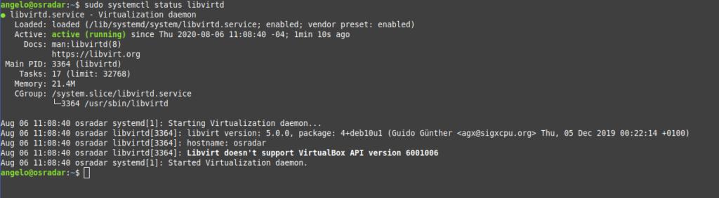 1.- Check the libvirtd service status