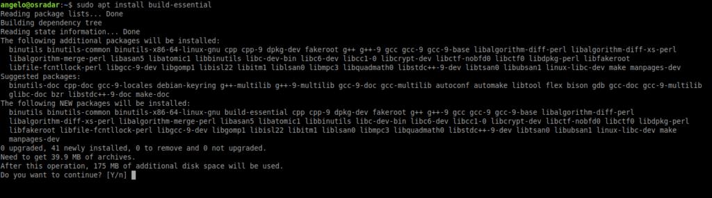 1.- Installing development and build tools on Ubuntu 20.04