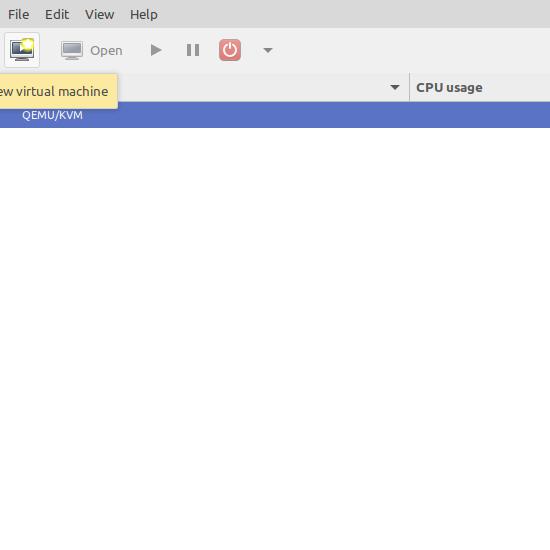 2.- Virt-manager main screen