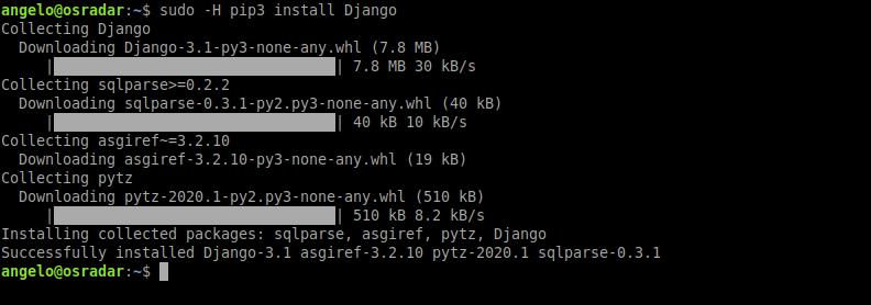 2.- Install Django on Ubuntu 20.04
