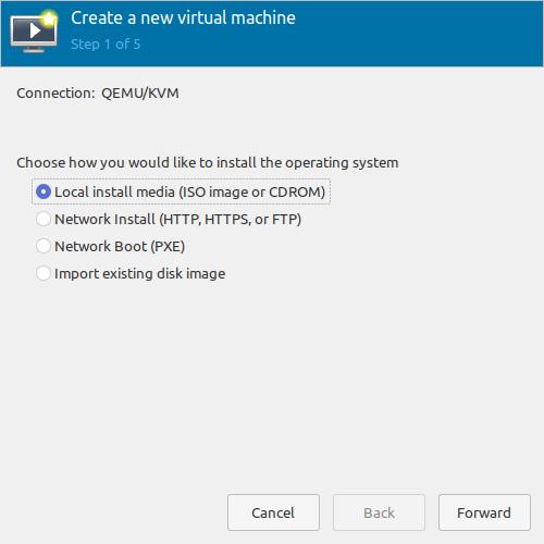 3.- Creating a new KVM Virtual Machine