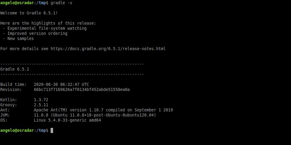 4.- Gradle on Ubuntu 20.04