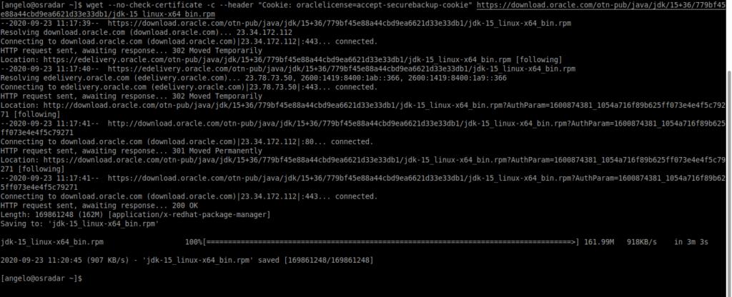 1.- Download Java 15 on CentOS 8