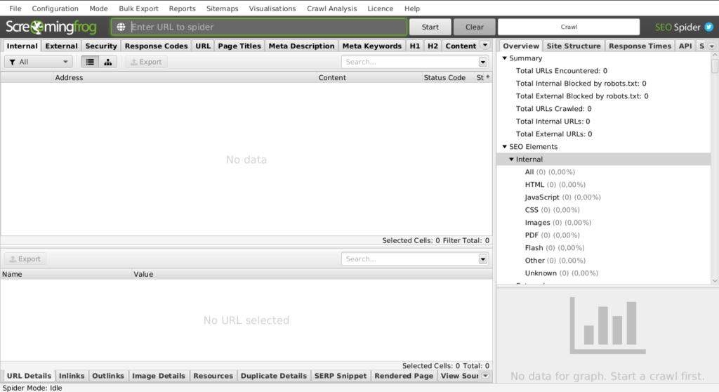 2.- Screaming Frog SEO Spider on Ubuntu 20.04 / 18.04