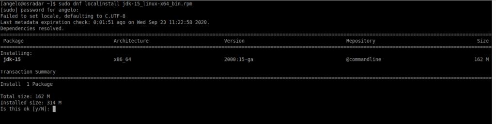 2.- Installing Java 15 on CentOS 8