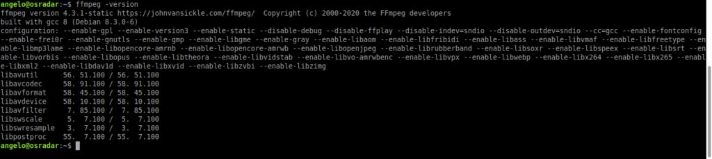 2.- FFmpeg on Ubuntu 20.04 / Debian 10
