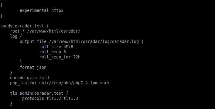 3.- configuring Caddy on Ubuntu 20.04