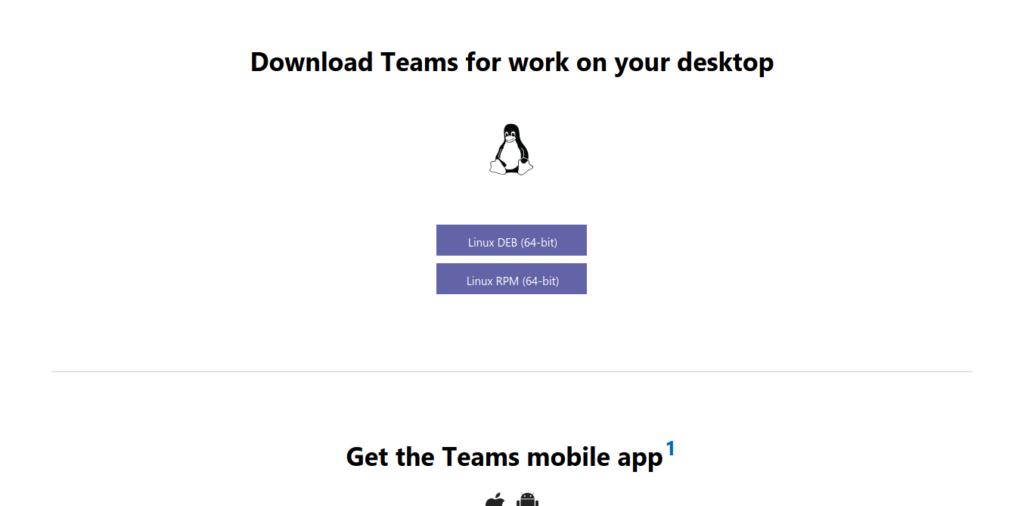 Download Microsoft Teams on Linux