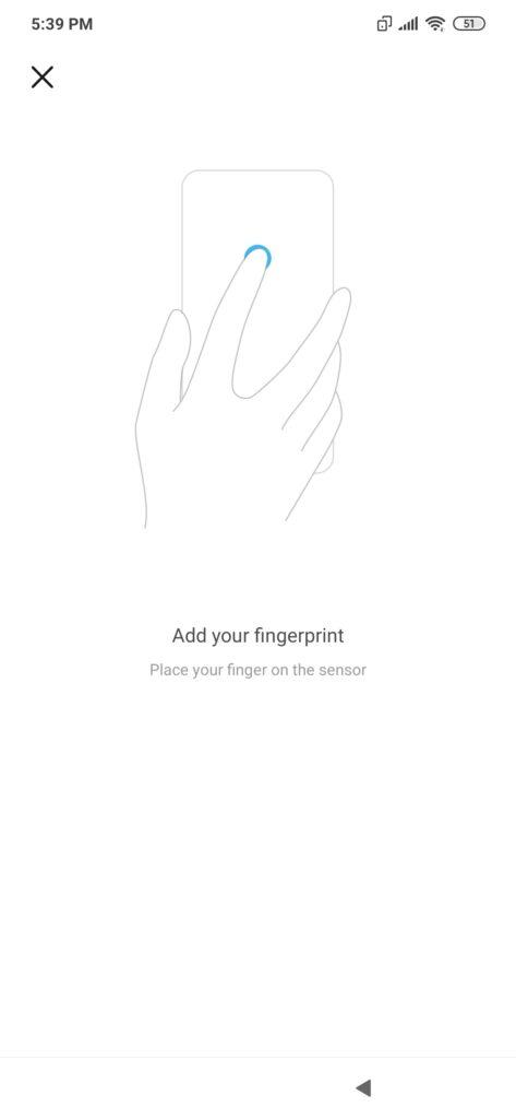Add your fingerprint