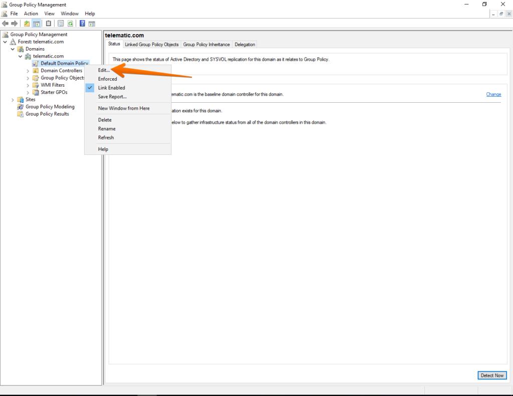 Editing domain policies