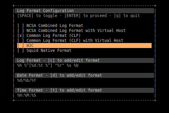 1.- Using GoAccess on Ubuntu 20.04 / Debian 10