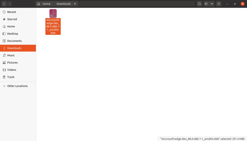 1.- The Microsoft edge package