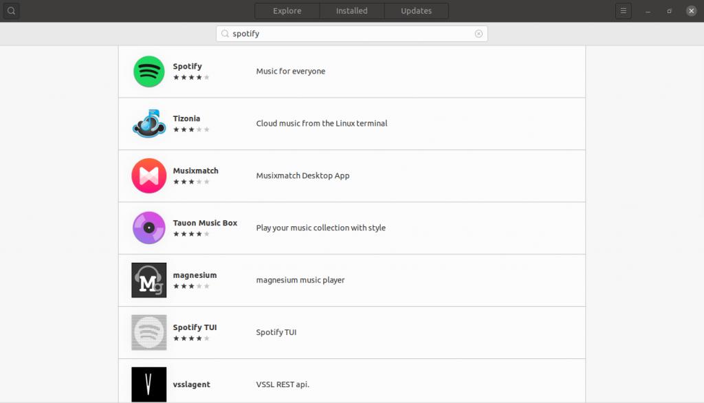 1.- Spotify on the Ubuntu software center